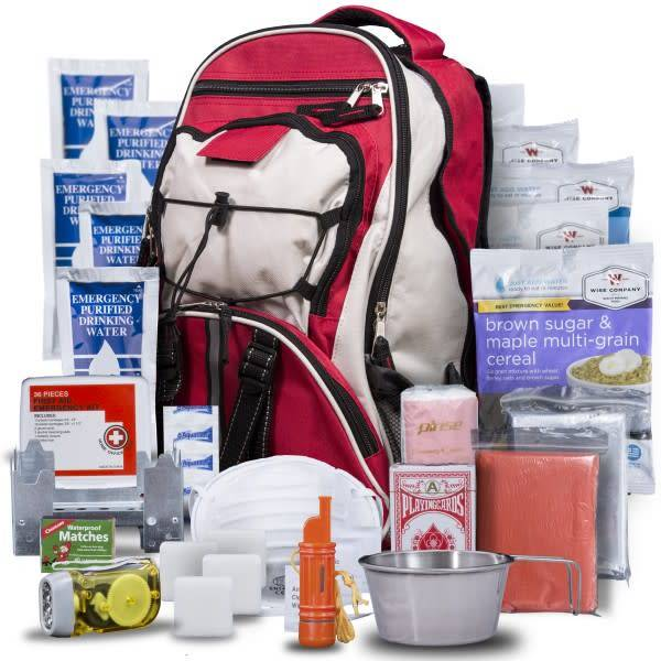 RED Wise Five Day Emergency Survival First Aid Kit with Food & Water for One Person (72 Hour kit for two people)