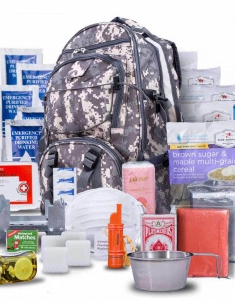 wise food Wise Five Day Emergency Survival First Aid Kit with Food & Water for One Person (72 Hour kit for two people) Camo