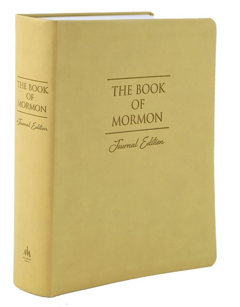 The Book of Mormon, Journal Edition, Cream Faux Leather, Large Print