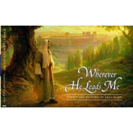Covenant Communications Wherever He Leads Me Postcard Booklet, Greg Olsen—Twenty-eight beautiful postcards