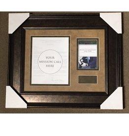 Missionary Call Frame 16 1/2 X 13 (Inside Frame) Mats: GDAR3301 Graham/GDDB7760 Violin Frame:  TPMM1-BW