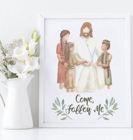 CastelArts The Savior With Children Come Follow me Print 5x7 CastelArts