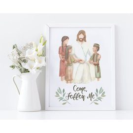 CastelArts - Artist The Savior With Children Come Follow me Print 5x7 CastelArts