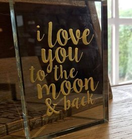 I love you to the moon and back paper weight