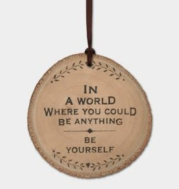 EastOfIndia Round Woodland Plaque In A World
