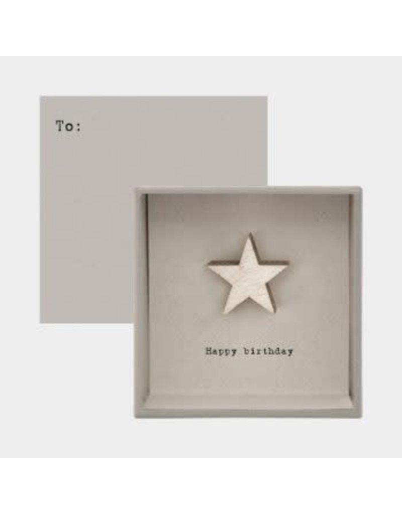 Boxed Card - Birthday Star