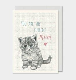 EastOfIndia Animal Card - Purrfect mum