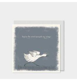 Square Card Duck Wind Beneath