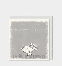 EastOfIndia Square Card Hare Always