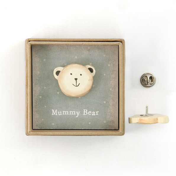 Lapel Pin - Mummy Bear