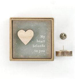 EastOfIndia Lapel Pin - My Heart Belongs To You