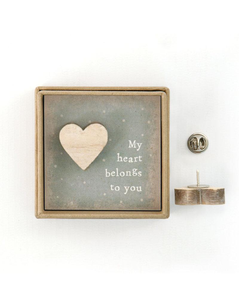 Lapel Pin - My Heart Belongs To You