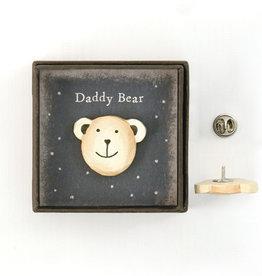 EastOfIndia Lapel Pin - Daddy Bear