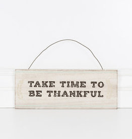 adams & co Take time to be thankful. 5x5 Wooden sign