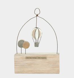 EastOfIndia Wooden scene-Balloon/Amazing things will happen