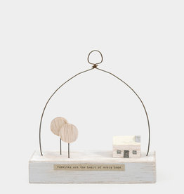 EastOfIndia Wooden scene-Cabin in the woods/Families are the heart