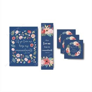 2019 Youth Theme 3x3 Print Blue Floral