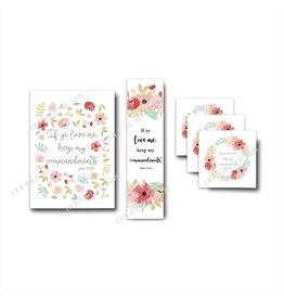 "2019 Youth Theme, White Floral. 5""x 7"" Print"