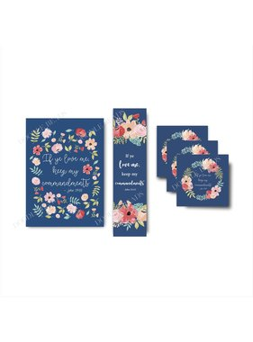"2019 Youth Theme, Blue Floral. 5""x 7"" Print"