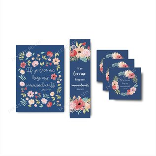 2019 Youth Theme Bookmark Blue Floral