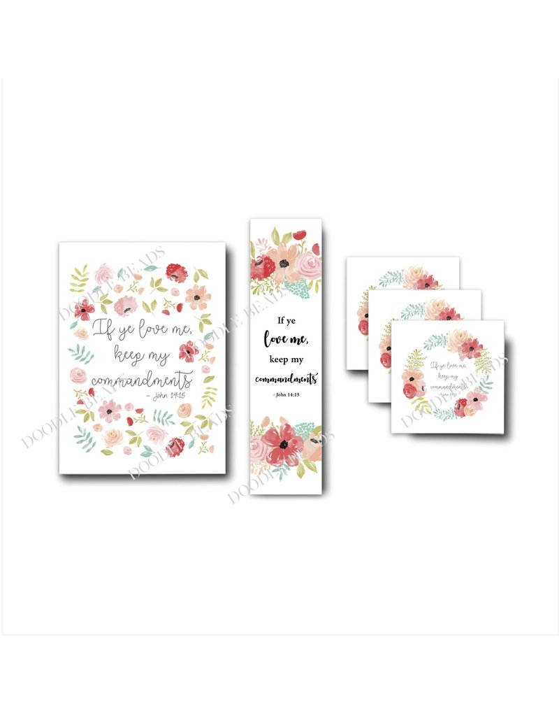 2019 Youth Theme Bookmark White Floral