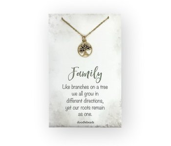 Family Tree Necklace, Gold