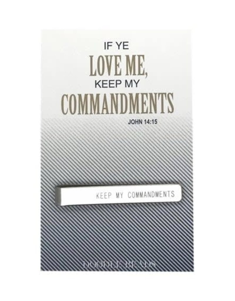 If Ye Love Me Keep My Commandments Tie Bar, 2019 Mutual Theme