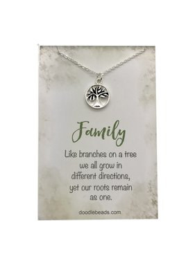 Family Tree Necklace, Silver
