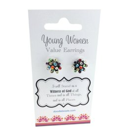 Young Women Values Rhinestone Earrings