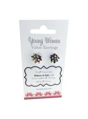 Young Women Values Rhinestone Earrings
