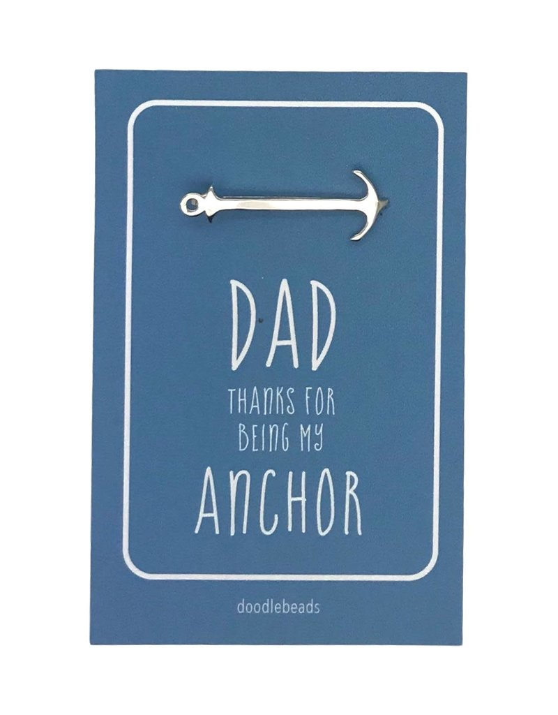 Dad Gift, Anchor Tie Bar – Dad thanks for being my Anchor (FathersDay)