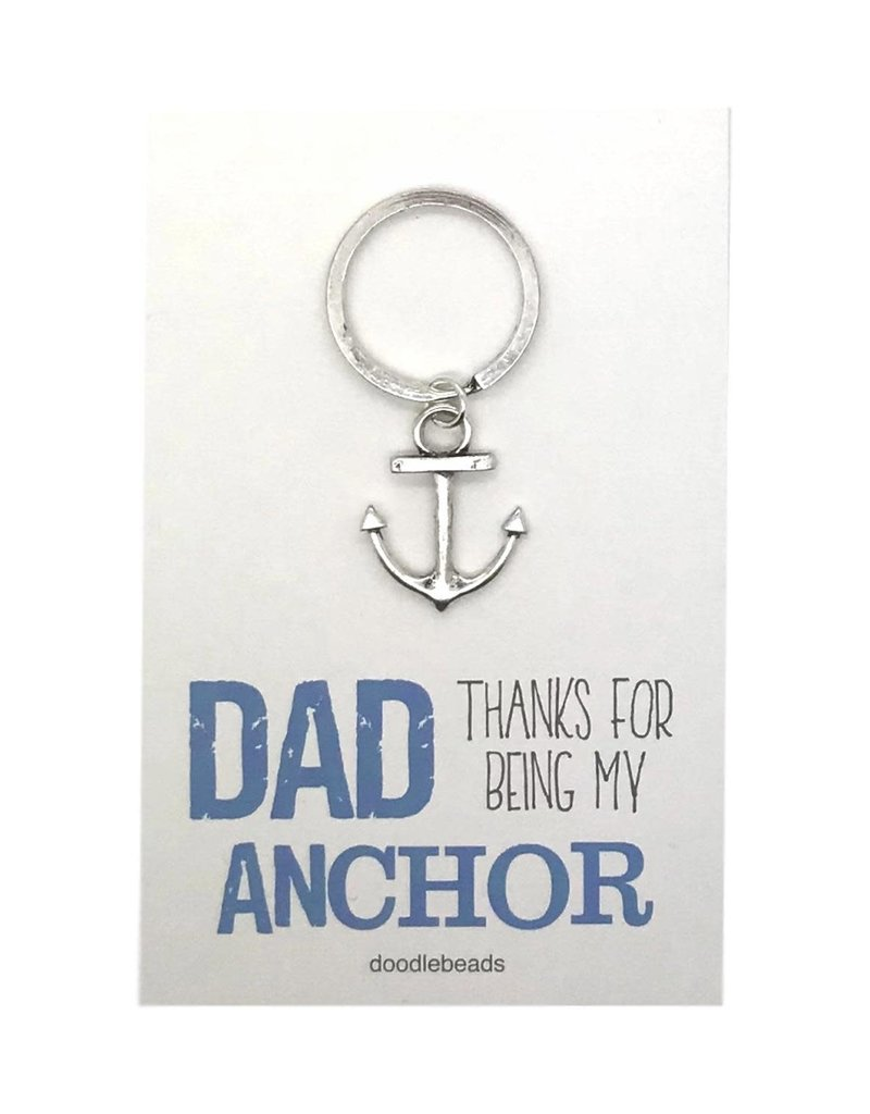 Dad Gift, Anchor key ring with card, Dad thanks for being my Anchor (Fathersday)