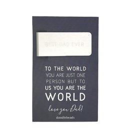 Best Dad Ever money clip, To the world you are just one person but to us you are the world, Love you Dad, Father's day gift (Fathersday)