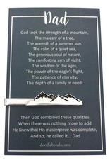Mountain tie clip – carded with poem for DAD – Gift for Dad (Fathersday)
