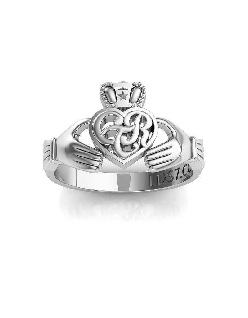 Celestial Ringdom Ctr Irish Claddagh Ring