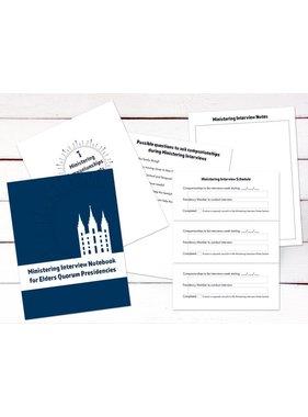 Ministering Interview Notebook for Elders Quorum Presidencies