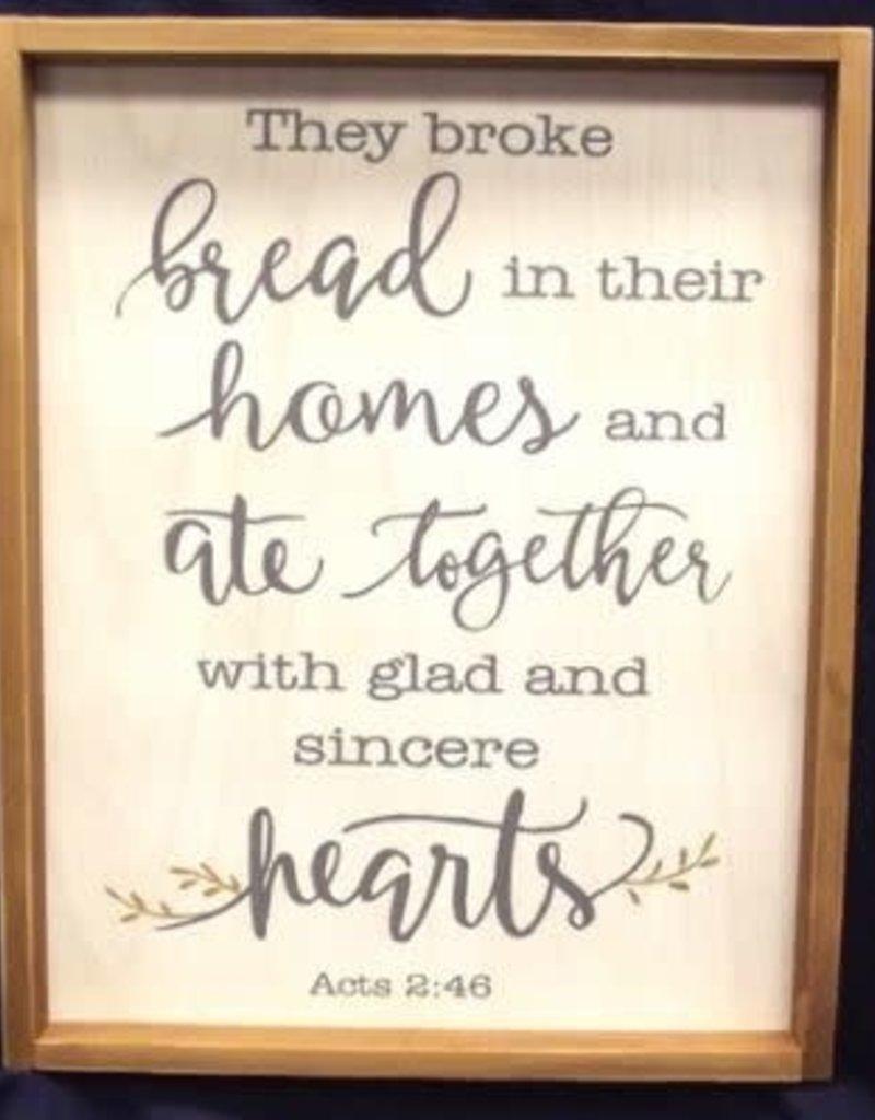 Wall Plaque Woody Broke Bread 23inch