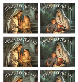 Altus fine art Jesus Loves Me Art By Simon Dewey 30 Stickers