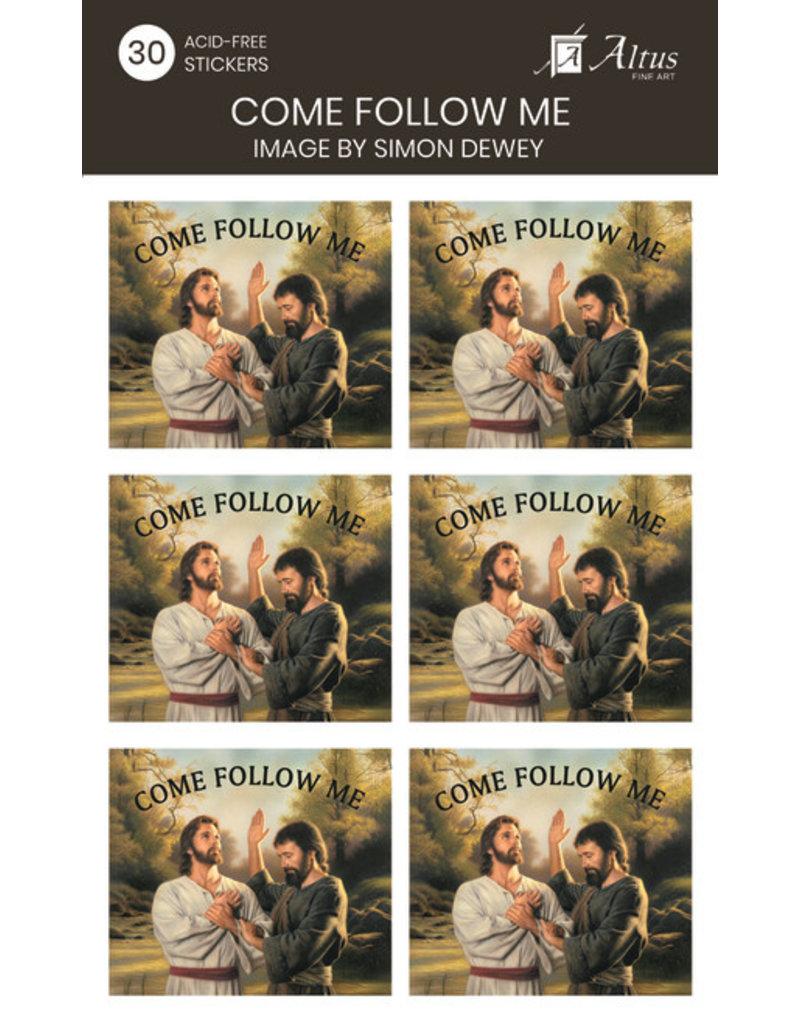 Come Follow Me Baptism Me Art By Simon Dewey 30 Stickers
