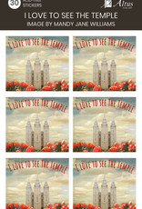 Altus fine art I Love To See The Temple Art By Mandy Jane Wlliams30 Stickers