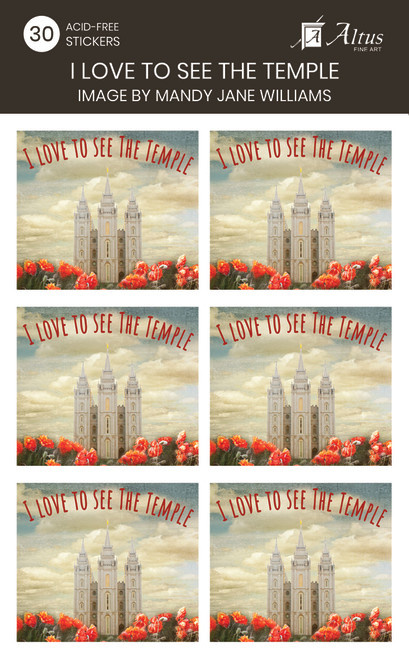 I Love To See The Temple Art By Mandy Jane Williams30 Stickers