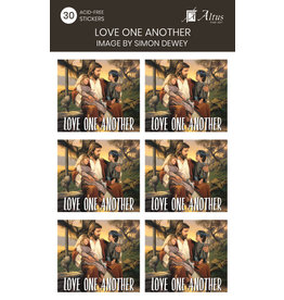 Love One Another Art By Simon Dewey 30 Stickers
