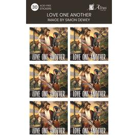 Altus fine art Love One Another Art By Simon Dewey 30 Stickers