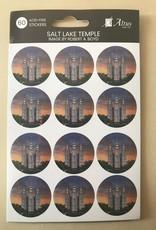 Altus fine art Salt Lake Temple Art By Robert A Boyd 30 Stickers