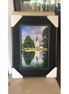 London Temple Reflection 10x16 Framed RRP £99.99