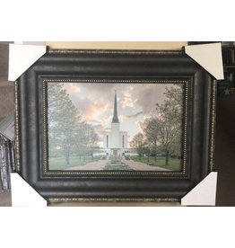 London Temple Garden View 21x16 Framed RRP £139.99