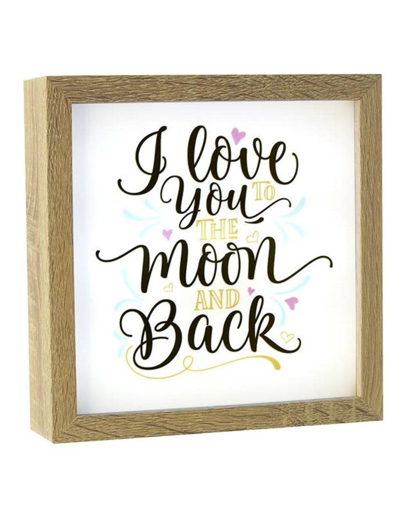 Light Box Frame - Love You To Moon N Back