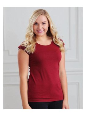 Poinsetta Red Modesty/layering tees - Sweet Salt Clothing