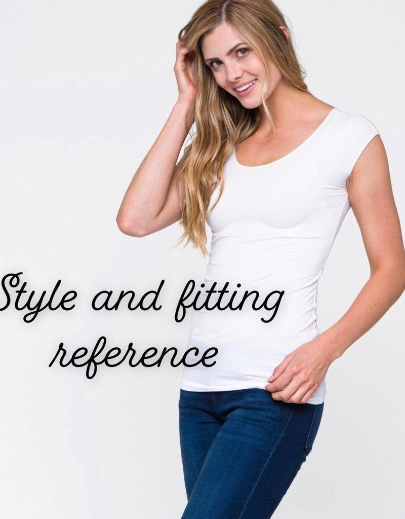 Grey Stripe Modesty/layering tees - Downeast