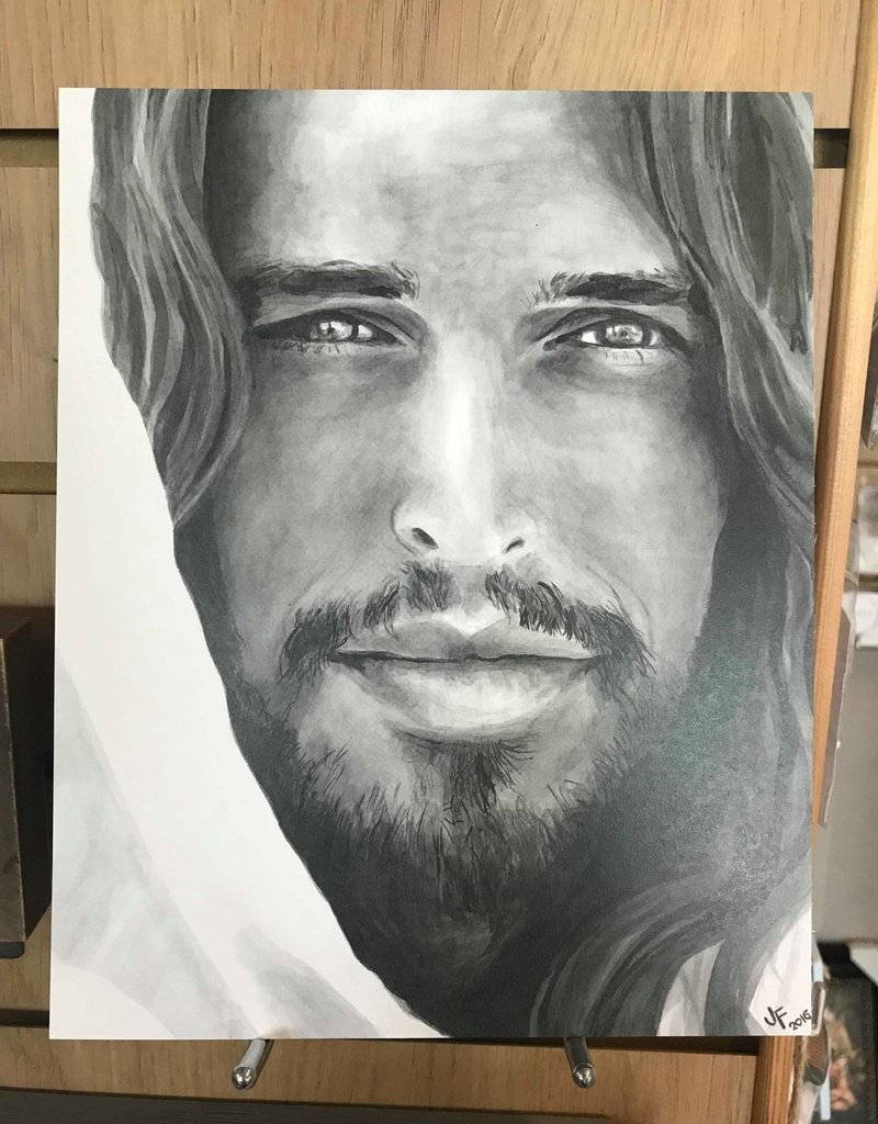 """Christ - Portrait. Print 10""""x8"""" by Jenny Fowler"""